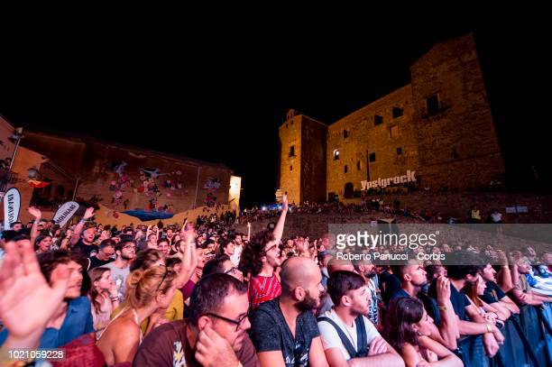 Her perform on stage during Ypsigrock Festival on August 10 2018 in Castelbuono Palermo Italy