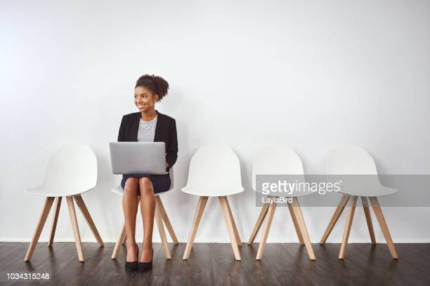 her positivity is sure to impress her interviewers - recruitment stock pictures, royalty-free photos & images