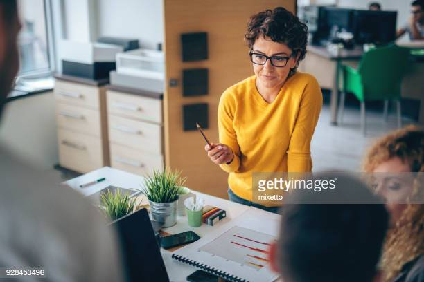 her presentation is perfect - showing stock photos and pictures