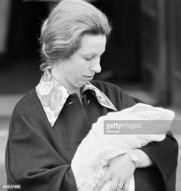 Her Royal Highness Anne leaves St Mary's Hospital in Paddington London after the birth of her baby daughter Princess Zara 18th May 1981