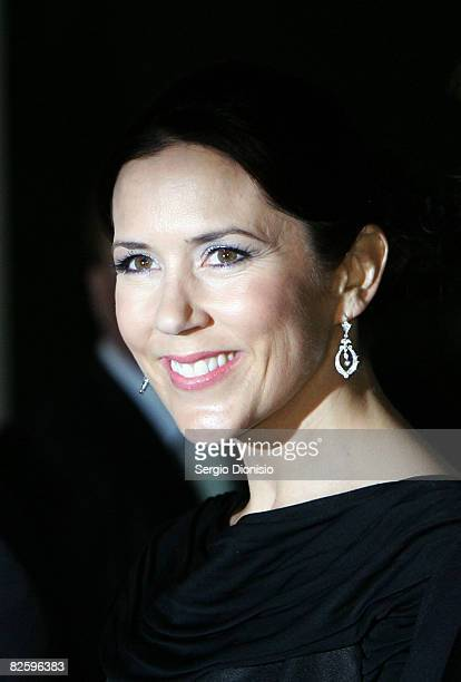 Her Royal Highness Crown Princess Mary of Denmark attends a gala dinner for The Alannah and Madeline Foundation at the National Gallery of Victoria...