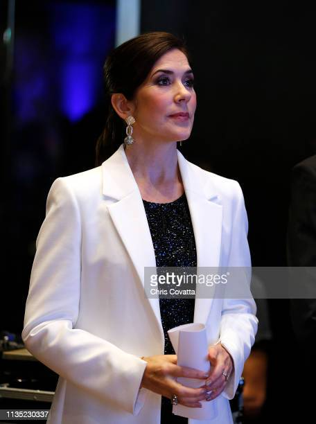 Her Royal Highness Crown Princess Mary of Denmark attends a reception at the House of Scandinavia on March 11 2019 in Austin Texas