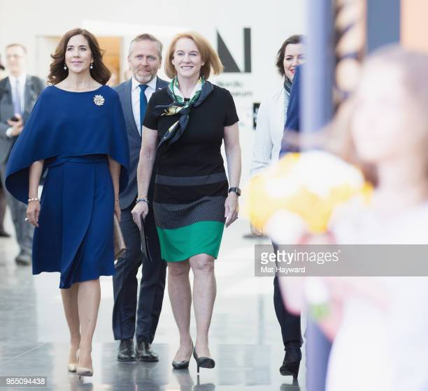 Her Royal Highness Crown Princess Mary of Denmark, Denmark Foreign Minister Anders Samuelsen and Seattle Mayor Jenny Durkan arrive at the official...