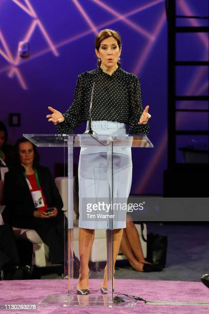 Her Royal Highness Crown Princess Mary of Denmark makes remarks highlighting DenmarkÕs leadership in the green energy transition and CERAWeekÕs...