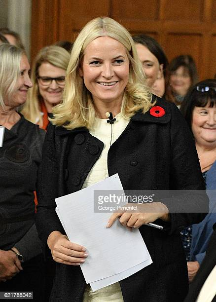 Her Royal Highness Crown Princess MetteMarit attend parallel music and literature industry seminars at Hart House during their Royal Tour of Canada...