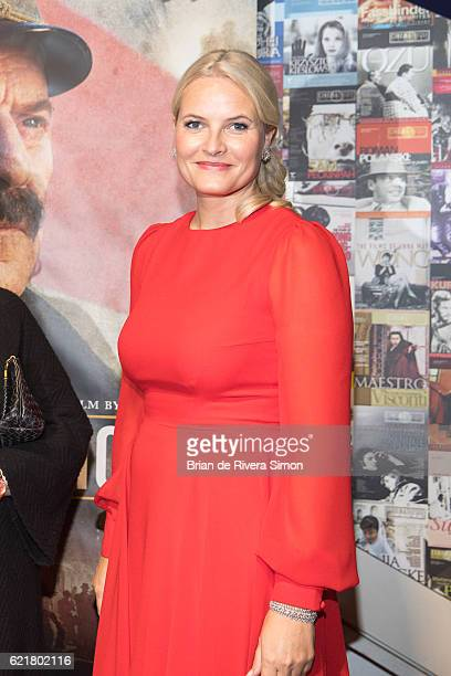 Her Royal Highness Crown Princess MetteMarit attends the special screening of The King's Choice at TIFF Lightbox during their Royal Tour of Canada on...