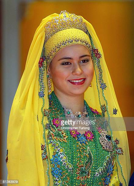 Her Royal Highness Paduka Seri Pengiran Seri Pengiran Anak Sarah attends the Majlis Istiadat Persantapan Pengantin Diraja following the wedding of...