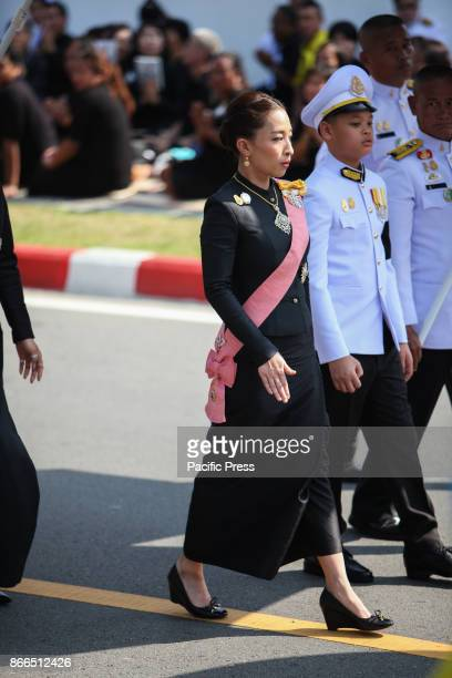GRANDPALACE BANGKOK THAILAND Her Royal Highness Princess Bajrakitiyabha and His Royal Highness Prince Dipangkorn Rasmijoti join the royal funeral...