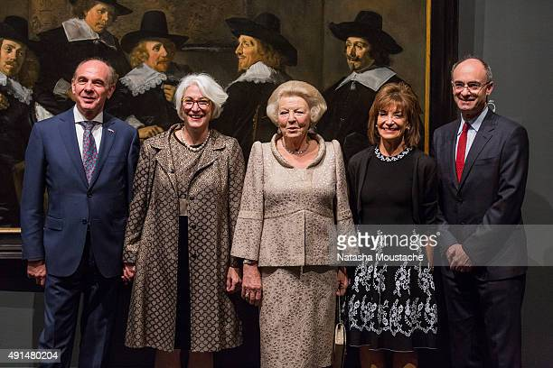 Her Royal Highness Princess Beatrix of the Netherlands Dutch General Consul Mr Rob de Vos Senior Curator Ronni Baer MFA Chair of the Board Lisbeth...