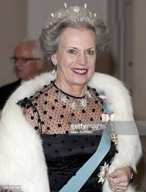 Her Royal Highness Princess Benedikte Attends A Social Evening For The Government And The Parliament At Christiansborg Palace In Copenhagen Denmark