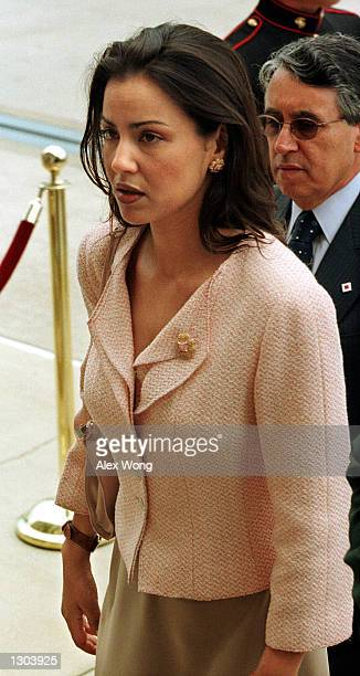 Her Royal Highness Princess Lalla Meryem heads to the Pentagon building after a full honors arrival ceremony June 21 2000 at the Pentagon in...