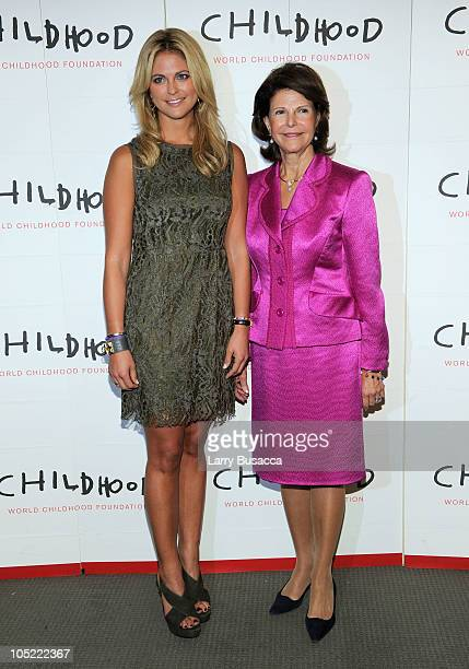 Her Royal Highness Princess Madeleine of Sweden and Her Majesty Queen Silvia of Sweden attend the Launch of The World Childhood Foundation USA...
