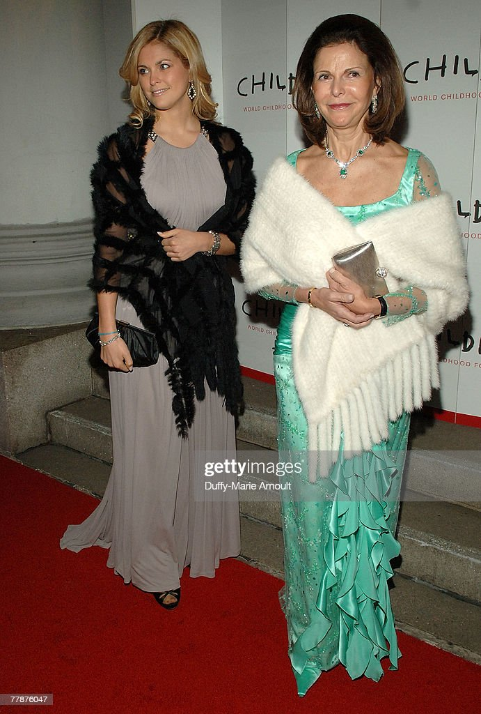 Her Royal Highness Princess Madeleine of Sweden and Her Majesty Queen Silvia of Sweden attend the World Childhood Foundation USA Gala at 583 Park Avenue on November 12, 2007 in New York City.