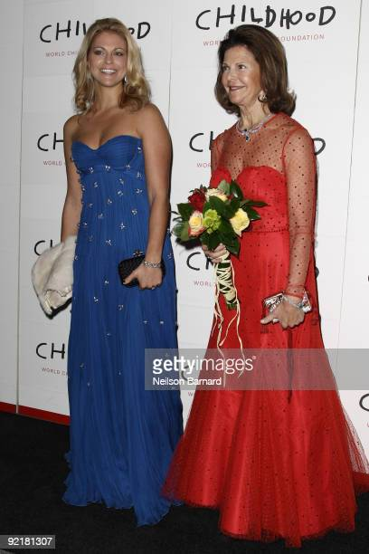 Her Royal Highness Princess Madeleine of Sweden and Her Majesty Queen Silvia of Sweden attend the World Childhood Foundation USA anniversary gala at...