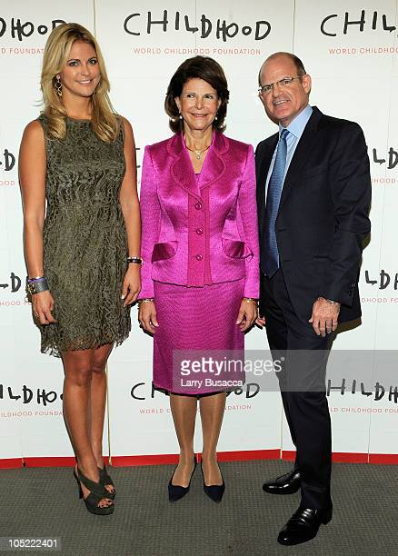 Her Royal Highness Princess Madeleine of Sweden Her Majesty Queen Silvia of Sweden and President of SIRIUS XM Radio Scott Greenstein attend the...
