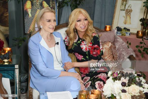 Her Royal Highness Princess Michael of Kent and Elizabeth Segerstrom attend afternoon tea with Her Royal Highness Princess Michael Of Kent at Knife...