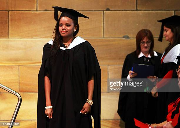 Her Royal Highness Princess Sikhanyiso Dlamini of Swaziland graduates from Sydney University with a Masters of Digital Communication in Sydney New...