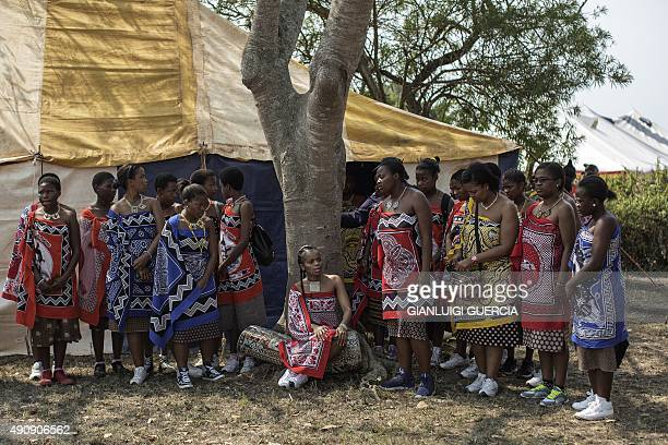 Her Royal Highness Princess Sikhanyiso Dlamini of Swaziland the eldest daughter of the king of Swaziland sits under a tree during an interview in...