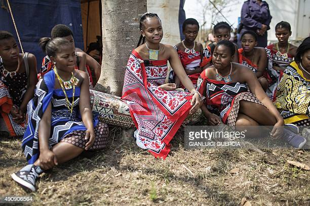 Her Royal Highness Princess Sikhanyiso Dlamini of Swaziland , the eldest daughter of the king of Swaziland, sits under a tree during an interview in...