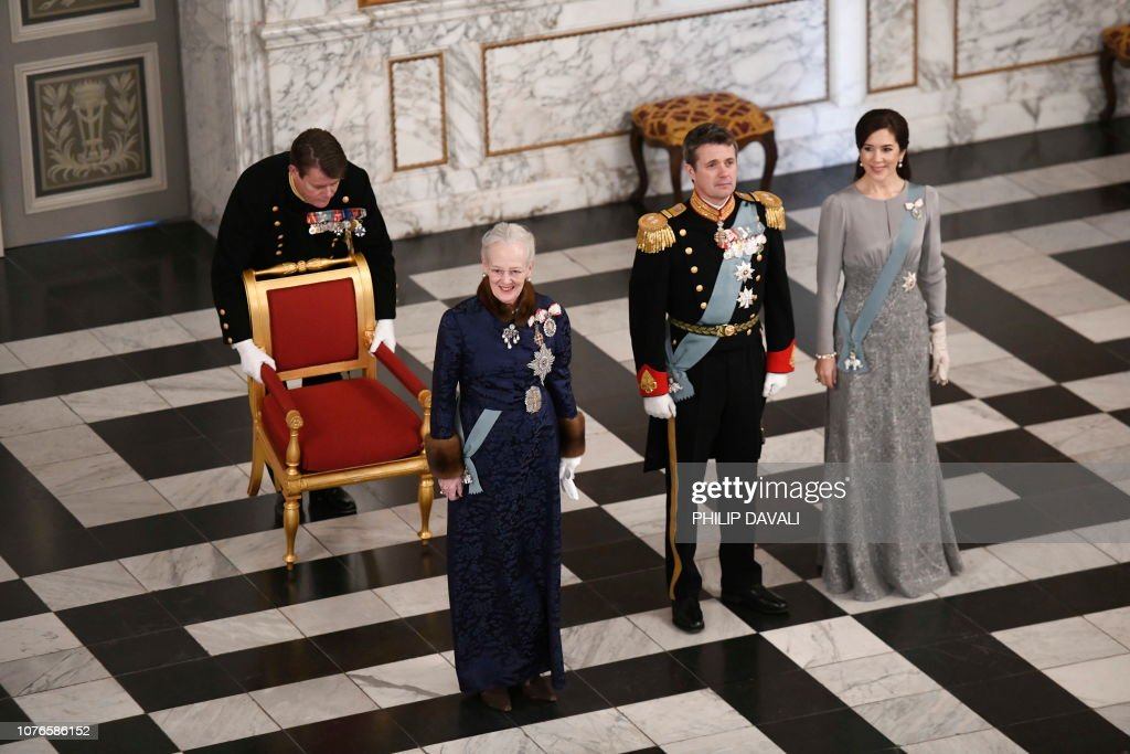 DENMARK-ROYALS-NEW-YEAR-RECEPTION : News Photo