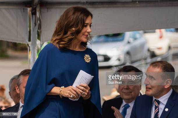 Her Royal Highness the Crown Princess Mary of Denmark and President of Iceland Gudni Th Johannesson at the Nordic Museum on May 5 2018 in Seattle...