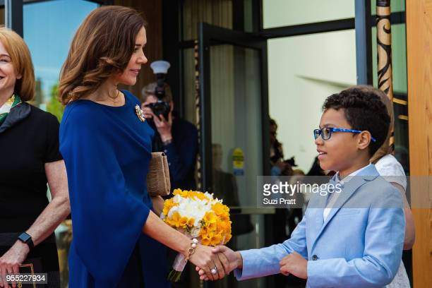 Her Royal Highness the Crown Princess Mary of Denmark at the Nordic Museum May 5 2018 in Seattle Washington