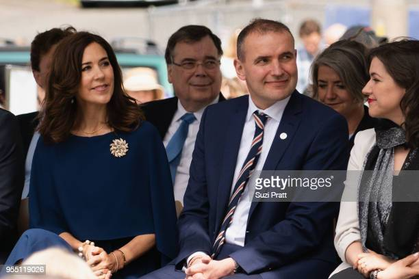 Her Royal Highness the Crown Princess Mary of Denmark President of Iceland Gudni Th Johannesson and Iceland First Lady Eliza Reid at the Nordic...