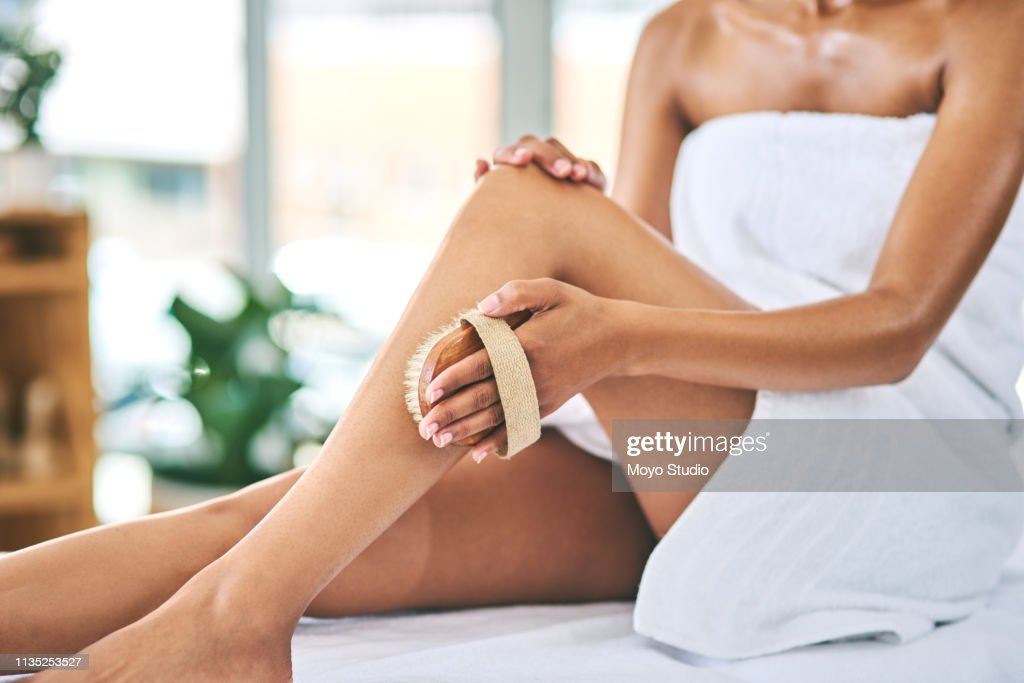 haar geheim van zijdezachte benen : Stockfoto