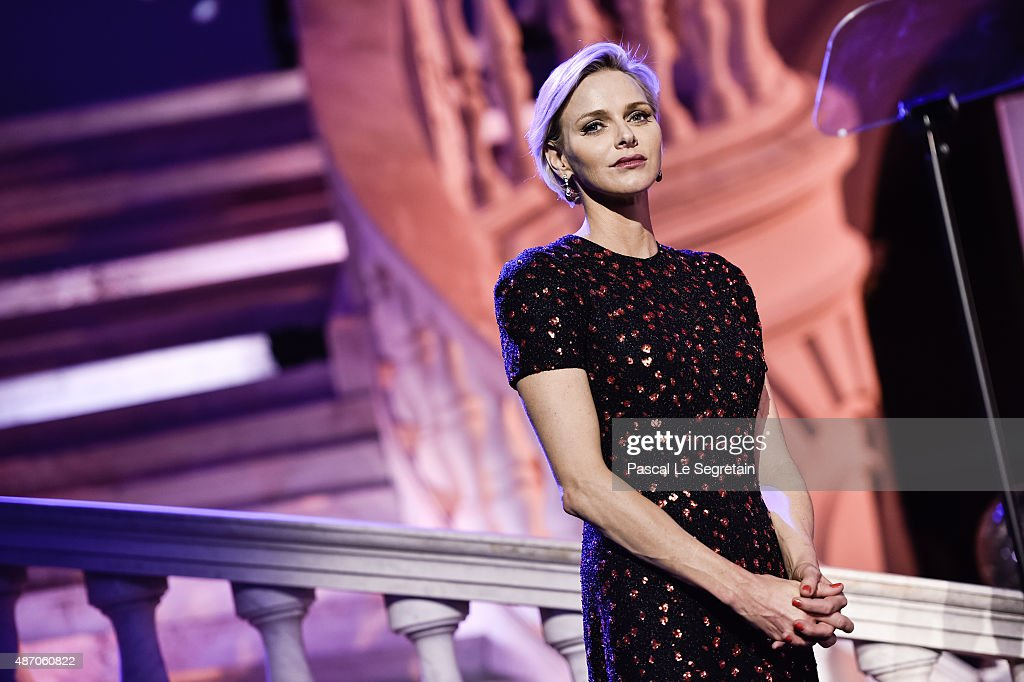 Her Serene Highness Princess Charlene of Monaco attends the 2015 Princess Grace Awards Gala With Presenting Sponsor Christian Dior Couture at Monaco Palace on September 5, 2015 in Monte-Carlo, Monaco.