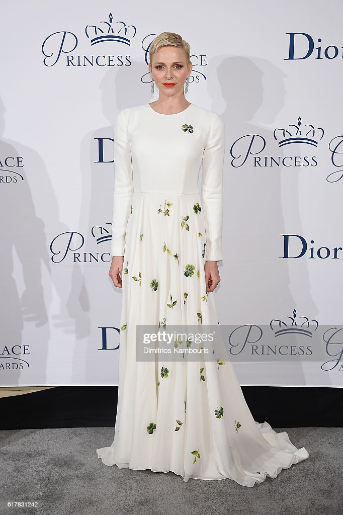 Her Serene Highness Princess Charlene of Monaco attends the 2016 Princess Grace Awards Gala with presenting sponsor Christian Dior Couture at Cipriani 25 Broadway on October 24, 2016 in New York City.