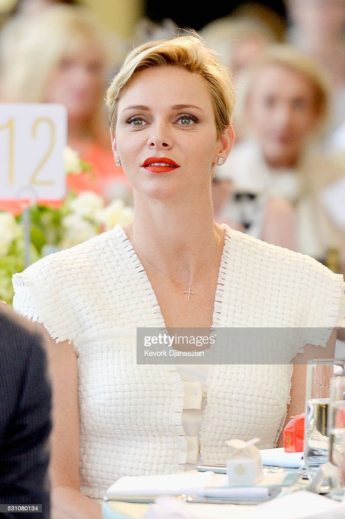 Her Serene Highness Princess Charlene of Monaco attends the Blue Ribbon of the Los Angeles Music Center to honor Princess Charlene of Monaco at Grand Hall at the Dorothy Chandler Pavililon on May 12, 2016 in Los Angeles, California.