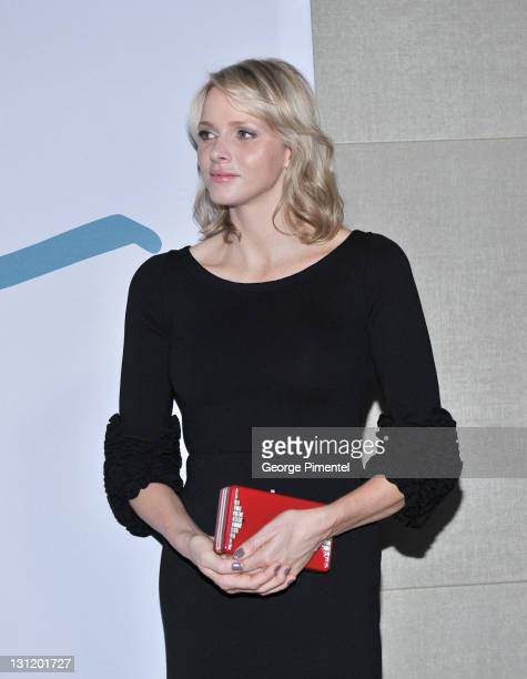 Her Serene Highness Princess Charlene of Monaco attends the Reception for the Grand Opening of Grace Kelly: From Movie Star to Princess Exhibition at...