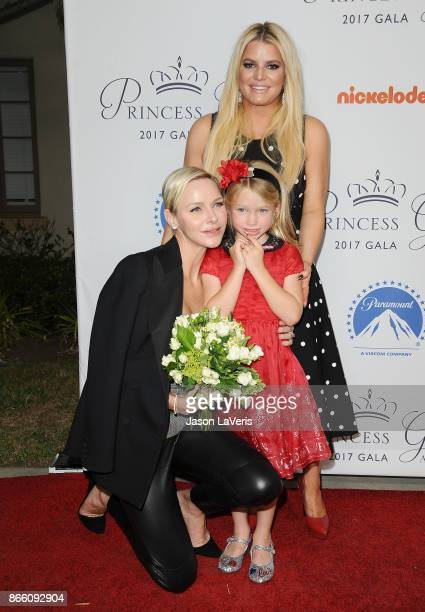 Her Serene Highness Princess Charlene of Monaco Jessica Simpson and Maxwell Johnson attend the 2017 Princess Grace Awards gala kick off event at...