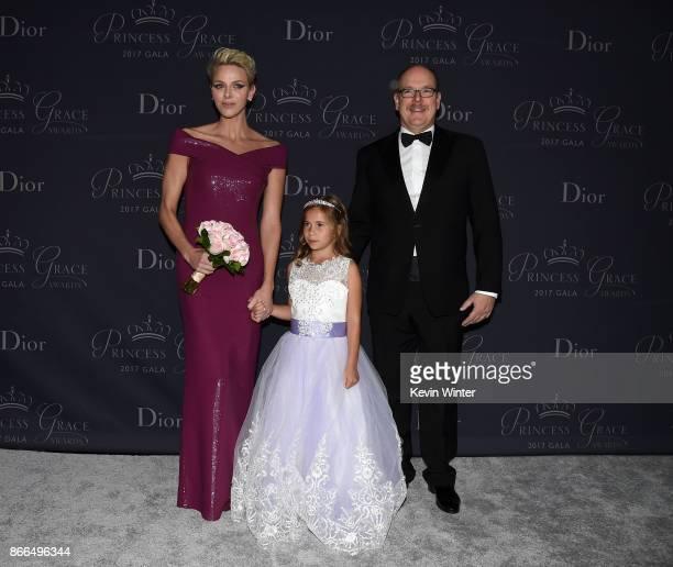 Her Serene Highness Princess Charlene of Monaco Sloane Levy and His Serene Highness Prince Albert II of Monaco attend 2017 Princess Grace Awards Gala...
