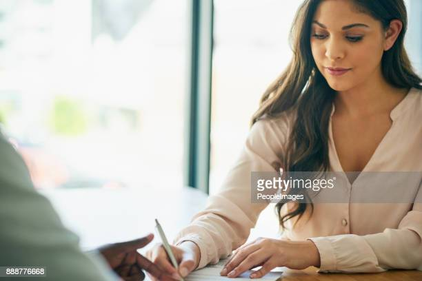her signature is all that's needed - signature stock photos and pictures
