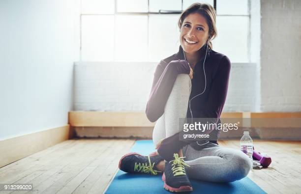 Her smile broadens after every workout