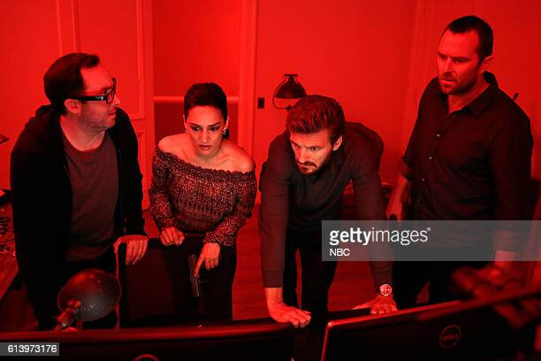 BLINDSPOT 'Her Spy's Harmed' Episode 206 Pictured PJ Byrne as Douglas Winter Archie Panjabi as Nas Kamal William Connell as Mike Caruso Sullivan...