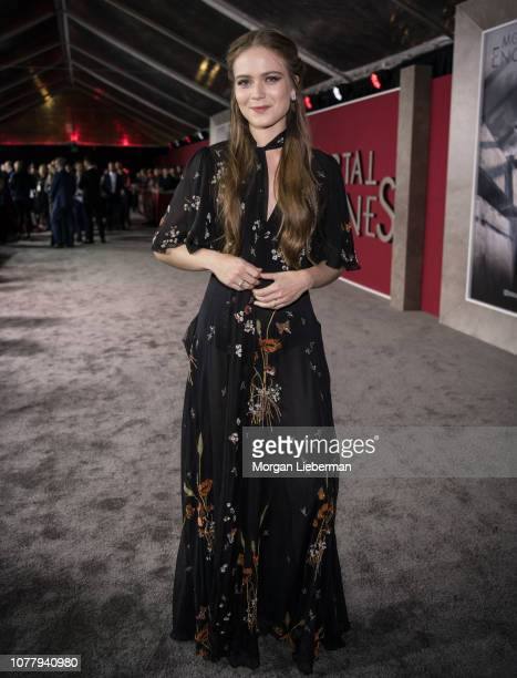 Hera Hilmar arrives at the premiere Of Universal Pictures' 'Mortal Engines' at Regency Village Theatre on December 5 2018 in Westwood California