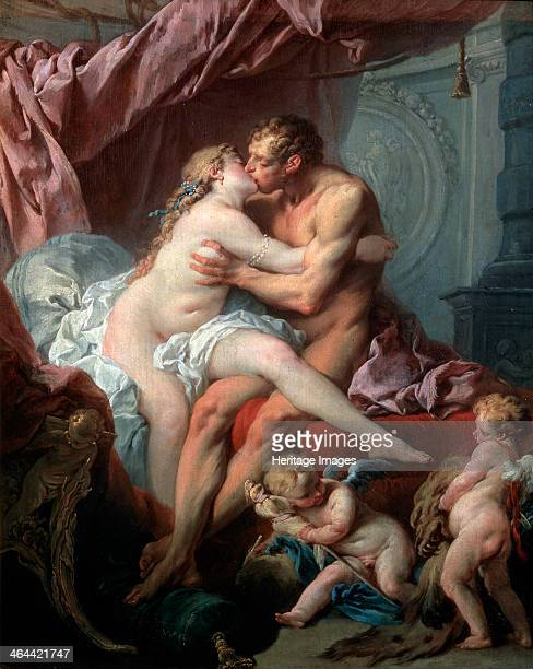 'Heracles and Omphale' 18th century Boucher François Found in the collection of the State A Pushkin Museum of Fine Arts Moscow