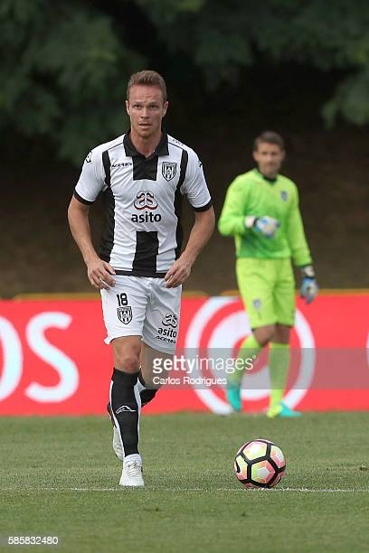 Heracles's defender Ramon Zomer during the match between Arouca v Heracles match for UEFA Europa League Qualifications SemiFinals 2nd Leg at Arouca...