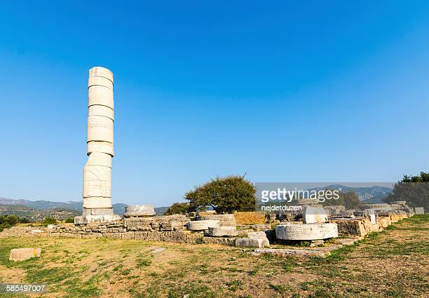 heraion ancient city - samos stock photos and pictures