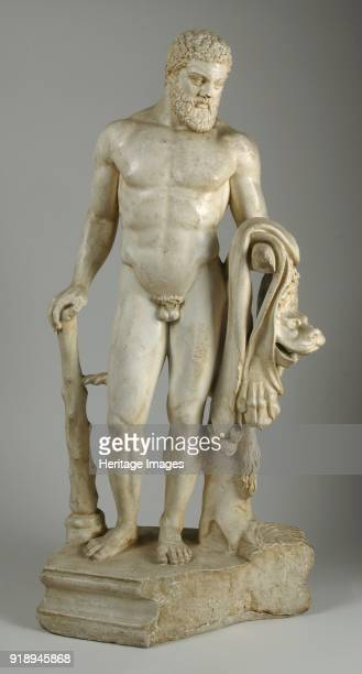 Herakles Marotti from Rome 2nd century Statuette of naked Herakles in BostonOxford type with club and lionskin Copy of work of c460 BC Dimensions...