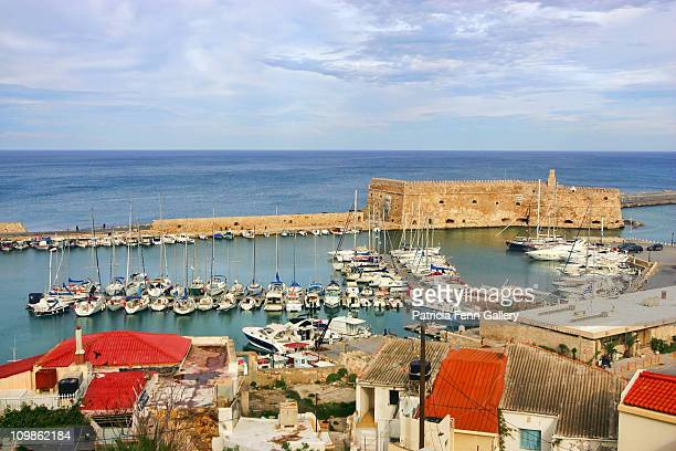 heraklion, capitol of crete - herakleion stock photos and pictures