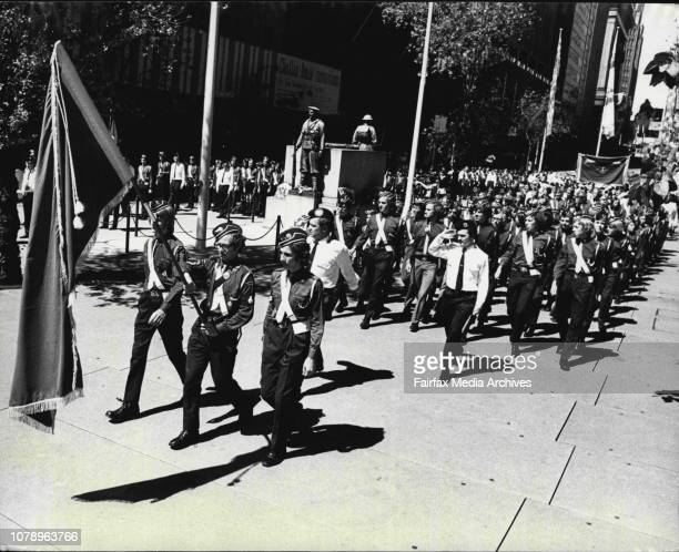 Herald News - Boys Brigade -- Members of the Boys Brigade passing through Martin *****.The Boys' Brigade had their annual Founders Day Parade through...