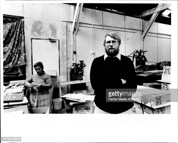 Herb Gardner retired officer of the Australian Navy and now owner of AcmePlasticHerb with his new commission a factory space at five dock May 13 1986