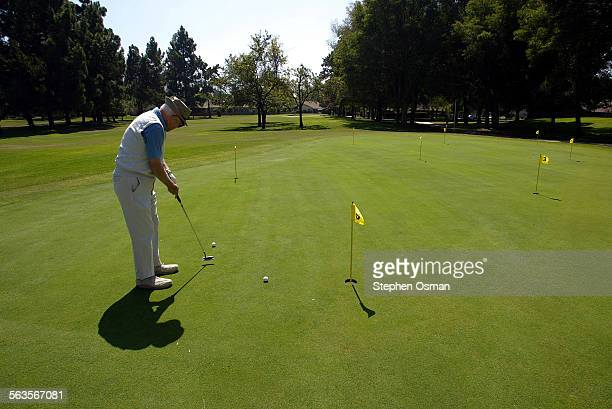 Herb Jaffe 85 putts on the greens at Leisure Village in Camarillo Jaffe has live in the Village for 16 years Thursday marks the 30th anniversary of...