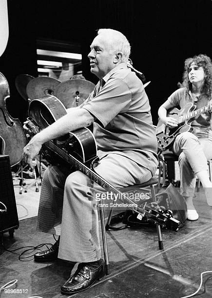 Herb Lewis and Emily Remler perform live on stage at the NOS Jazz Festival in Meervaart, Amsterdam, Netherlands on August 11 1983
