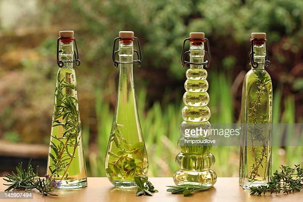 herb oils in bottles