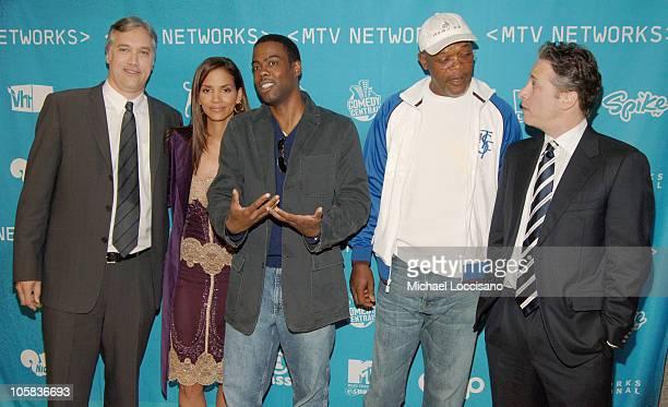 Herb Scannell MTV Networks Vice Chairman Halle Berry Chris Rock Samuel L Jackson and Jon Stewart