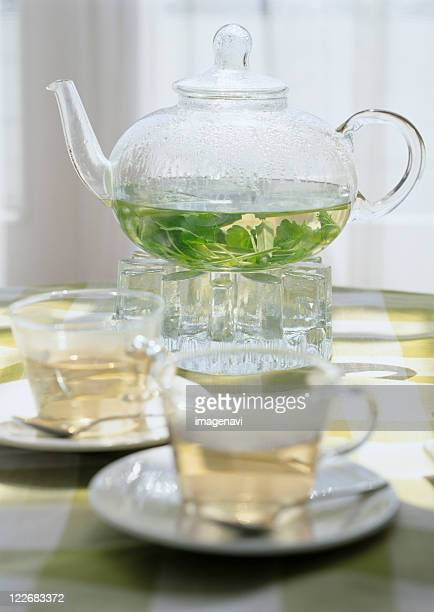herb tea - erva cidreira imagens e fotografias de stock